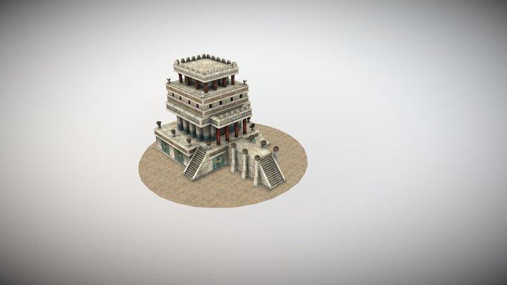Ancient Mediterranean Temple 3D Model