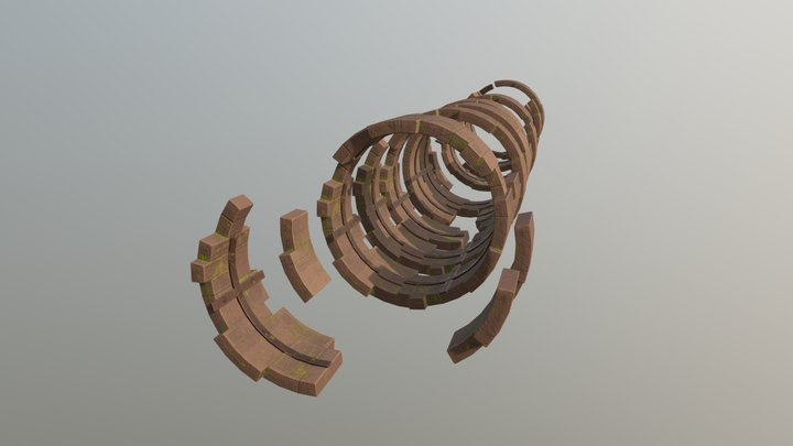 Stylized Structure (Outdoor Environment) 3D Model