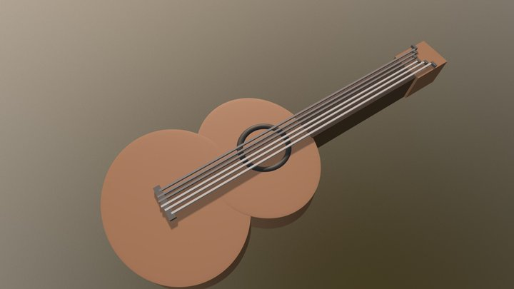 Basic Guitar 3D Model