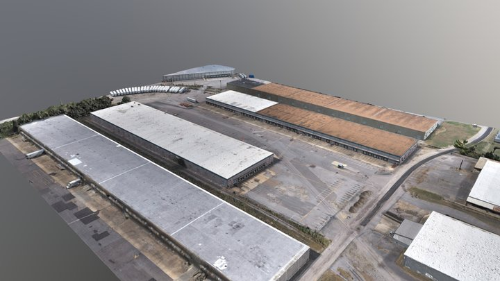 2019-09-29 Berma Warehouse Simplified 3d Mesh 3D Model