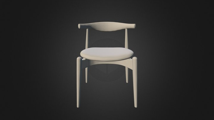 CH 20 Elbow Chair 3ds 3D Model