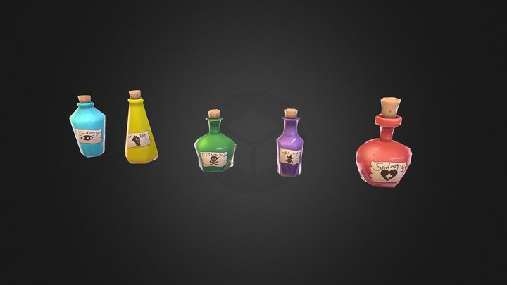 Witch's Potions! 3D Model