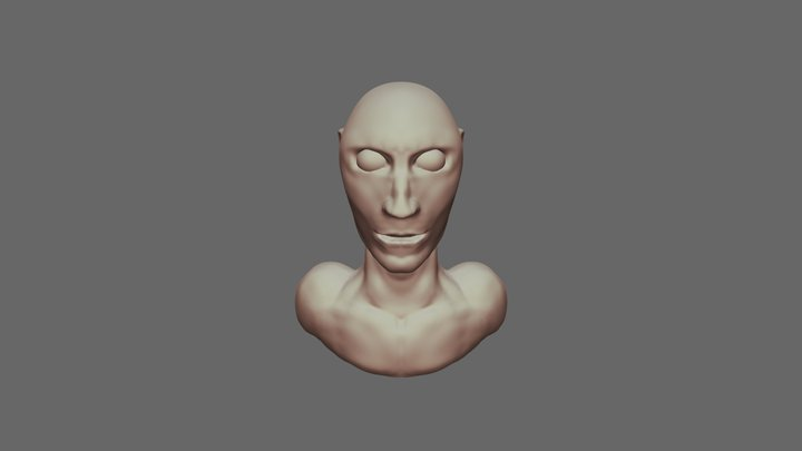 25 10 2019 Cabeça Doutrinador 3D Model