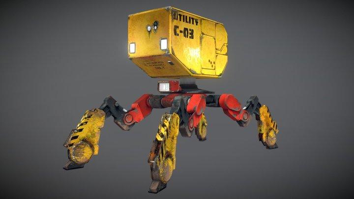 Utility Mech 3D Model