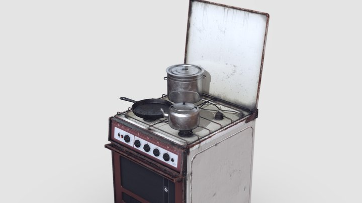Old Soviet Russia Cooker 3D Model