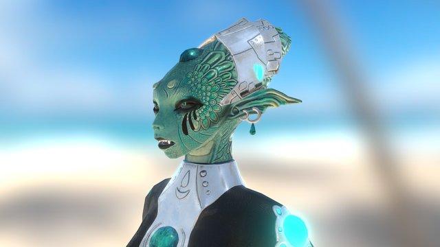 Chara design 04 - Alien 3D Model