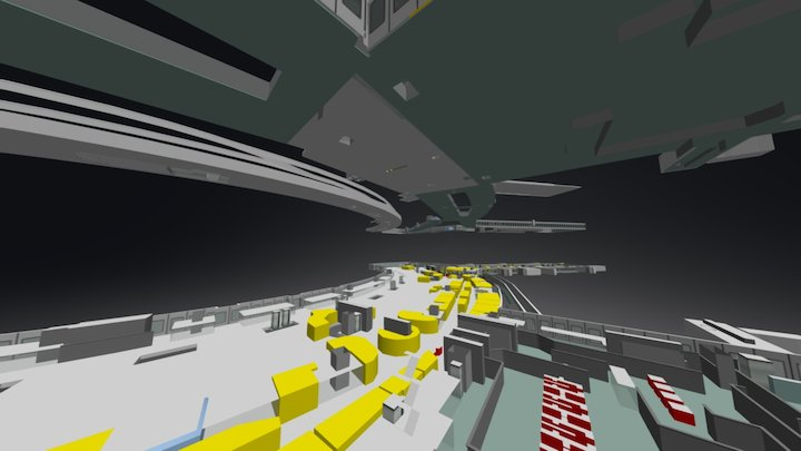 3 Ebenen 3D Model