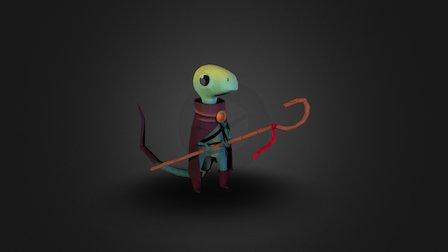 Lizard Mage 3D Model