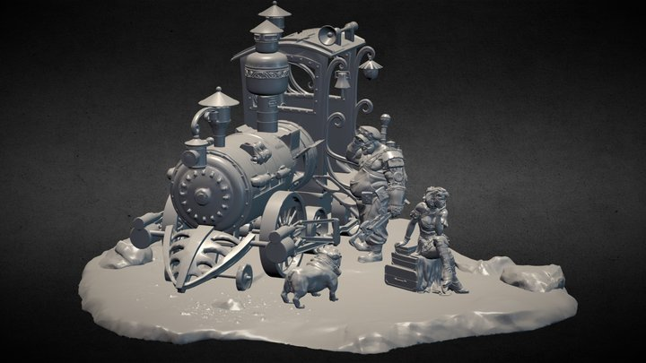 Going West -Steam Wars 3 3D Model