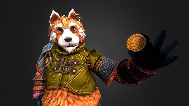 Tigarius the furryBard 3D Model
