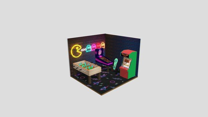 Quarto Gamer 3D Model