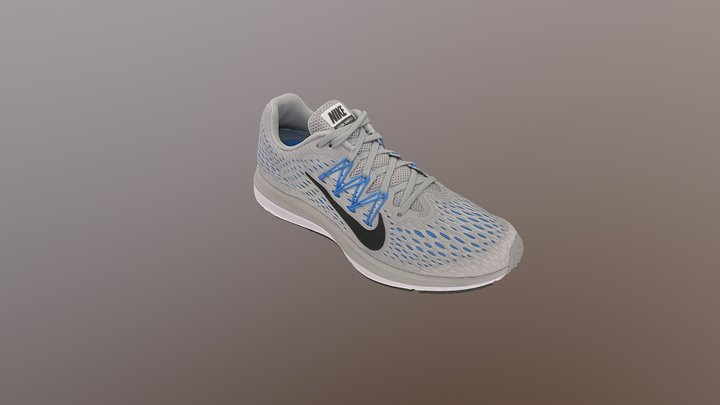 Nike Zoom Winflo 5 Sport Shoe 3D Model