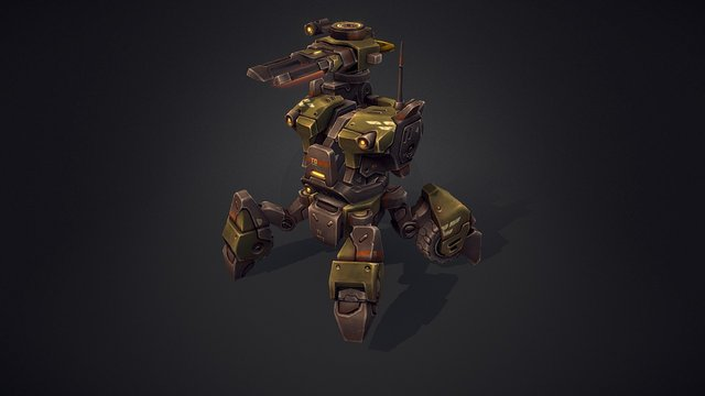 Mech Constructor: The Beetle (Animated) 3D Model