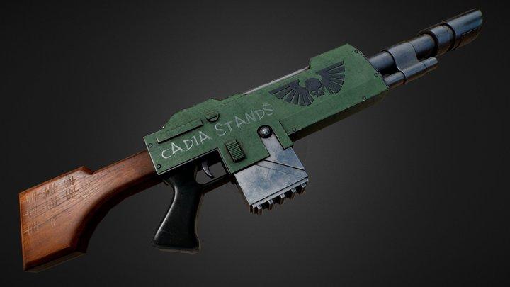 Lasgun Warhammer 40K 3D Model
