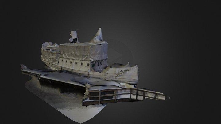 Ejdern steamboat 3D Model
