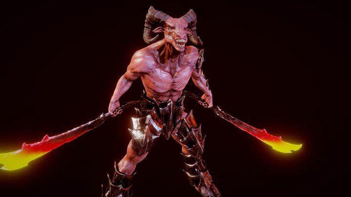 Demon Warrior 3D Model