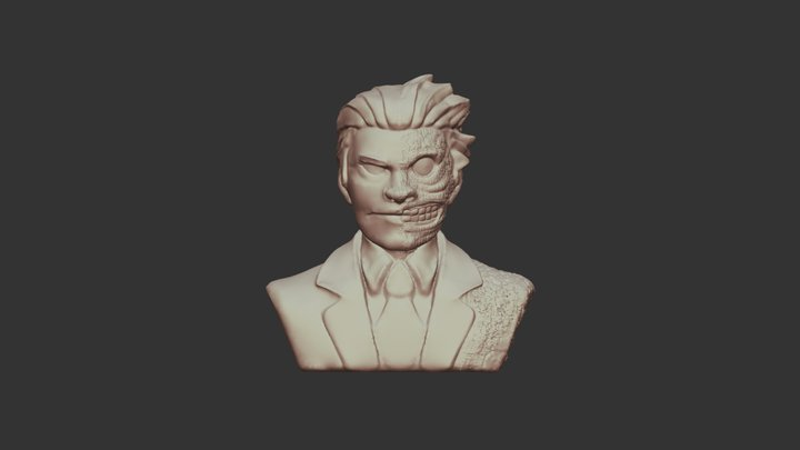Two Face 3D Model