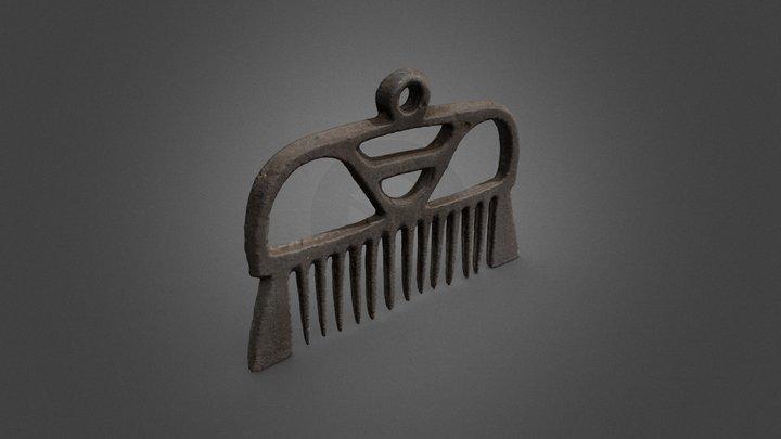 Kampariipus, Metal comb pendant (H62100:98) 3D Model