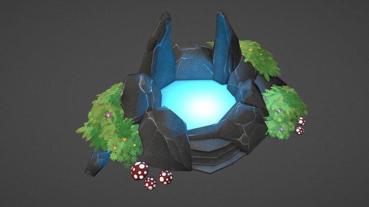 Purgatory - Hidden pond asset 3D Model