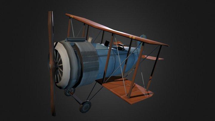 Salmson 2-A2 USAS Plane 3D Model