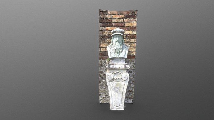 Da Vinci Bust at Powerscourt Gardens 3D Model