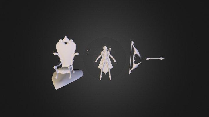 Heartseeker Ashe Skin League of Legends 3D Model