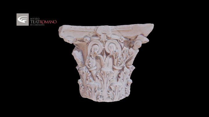 Corinthian capital of valva regia 3D Model