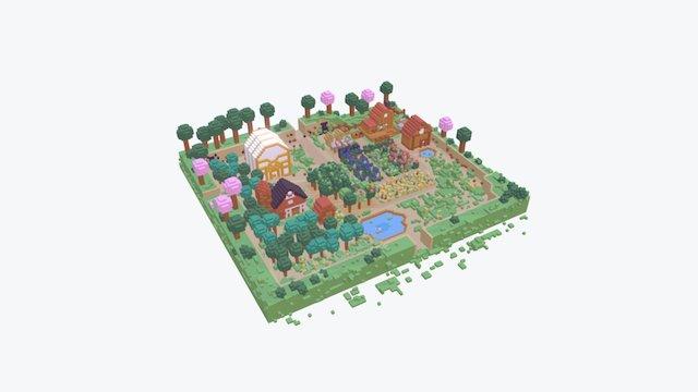 My Stardew Valley Farm 3D Model