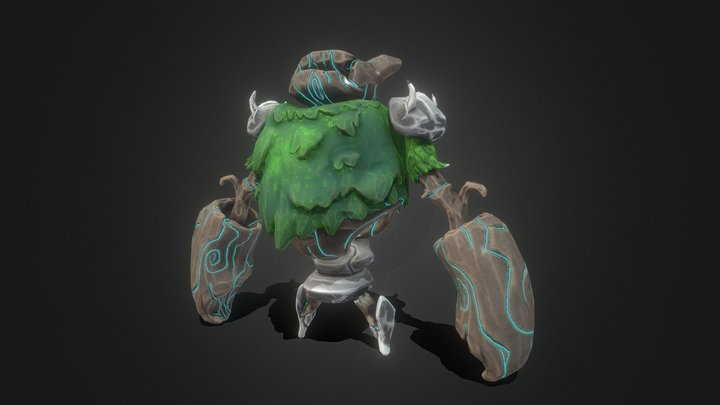 Tree Golem 3D Model