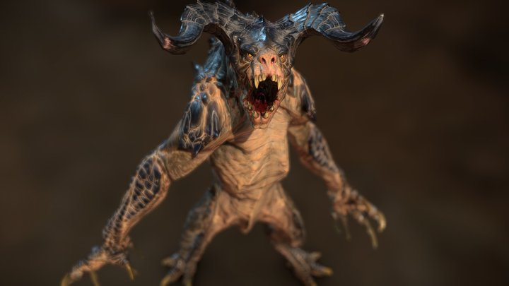 The Fallout 4 Deathclaw 3D Model