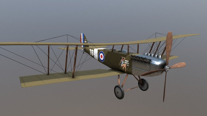 Biplane 'Trouble in Paradise' Asset 3D Model