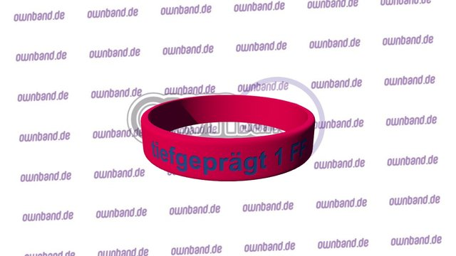 ownband Style tiefgepraegt 1-Farbfuellung 3D Model