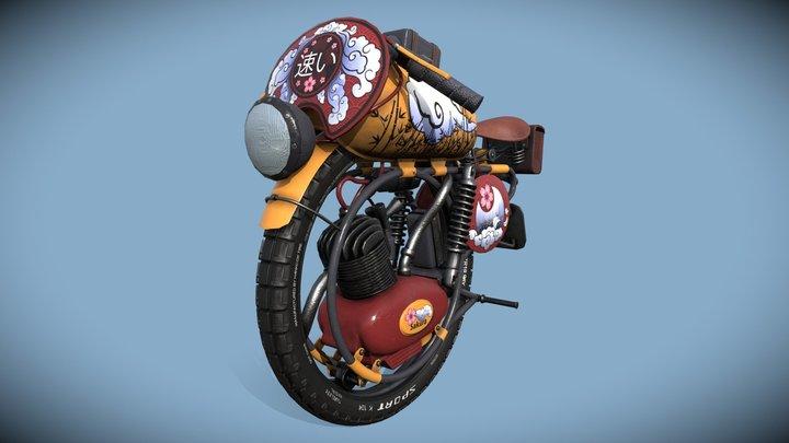 The Fast Sakura-Bike 3D Model