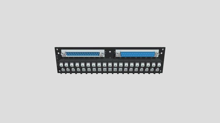 コネクタ端子台変換ユニット(D-sub37オス/メス⇔端子台):ネジ取付け 3D Model