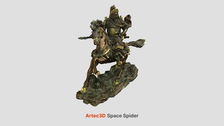 Bronze Statue 3D Model