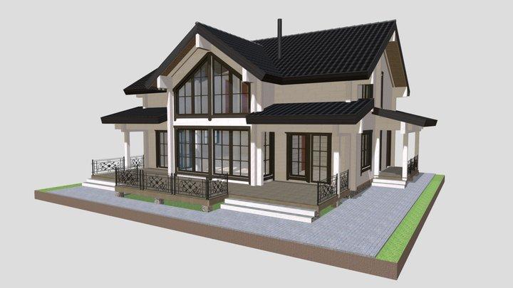 Дом Белоостров Д.133 (в.8) 3D Model