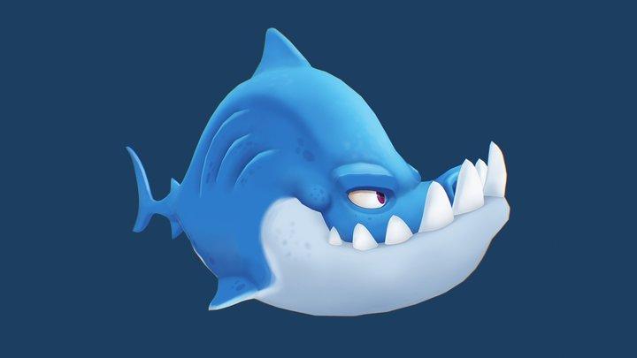 Angry Shark 3D Model