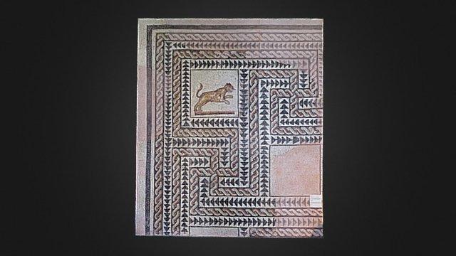 Pavimento a mosaico con felino - Milano 3D Model