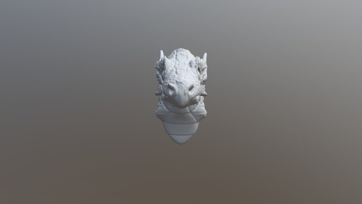 Young Dragon Bust 3D Model