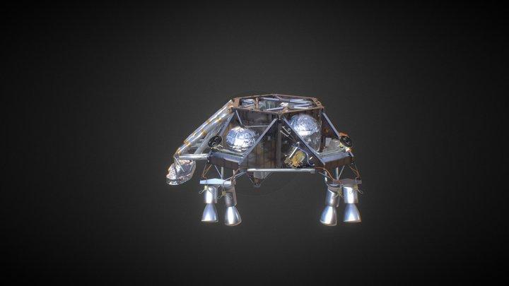 NASA Curiosity Sky Crane MSL 3D Model
