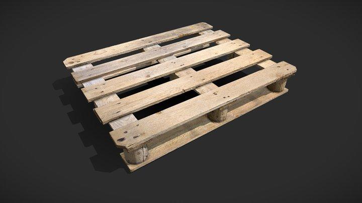 Wood palette 3D Model