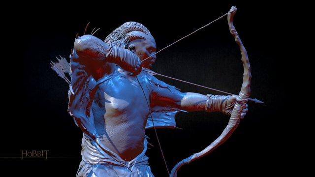 The Hobbit Figurines_NARZUG 3D Model