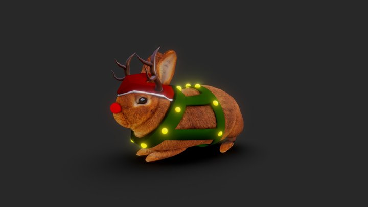 Rabbit Christmas 3D Model