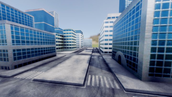 Tiny City 3D Model