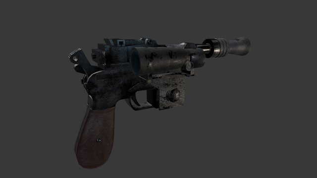 Luke Skywalkers DL44 Blaster 3D Model