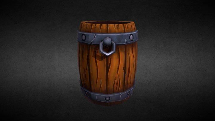 [Practice] Styliced Barrel 3D Model