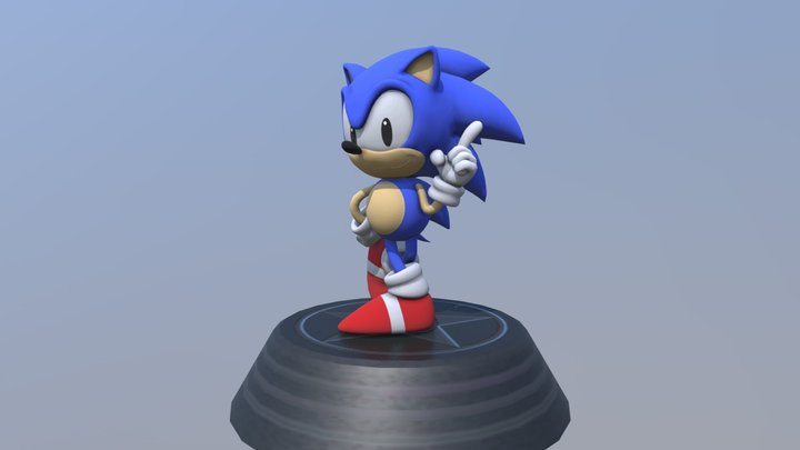 Sonic Generations - Classic Sonic Statue 3D Model