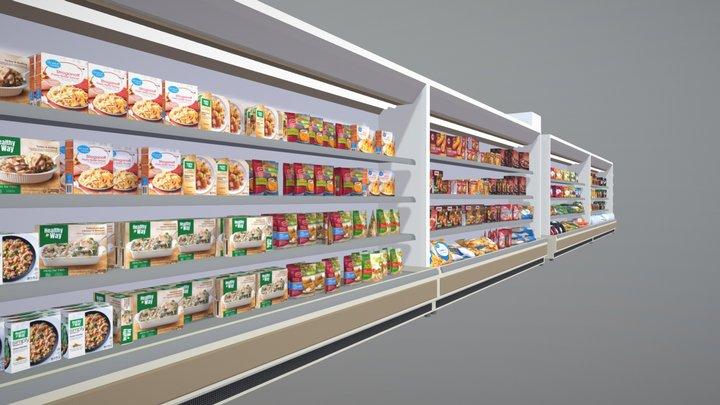 Frozen Food Aisle 3D Model