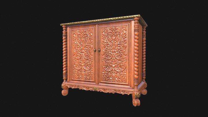 Mahogany Cabinet 3D Model