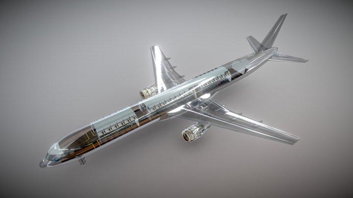 Airliner Boeing 757 Transparent 3D Model